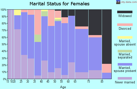 Zip code 48419 marital status for females