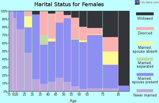 Zip code 48427 marital status for females