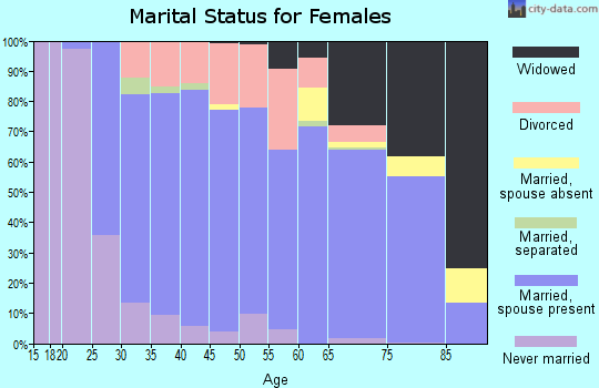 Zip code 48451 marital status for females