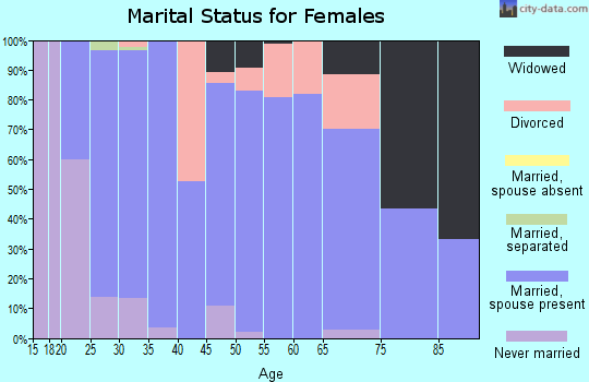 Zip code 48464 marital status for females