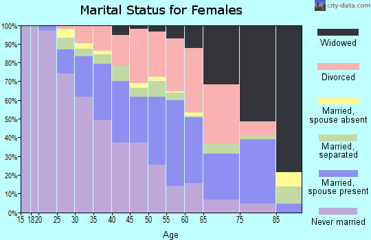 Zip code 48504 marital status for females