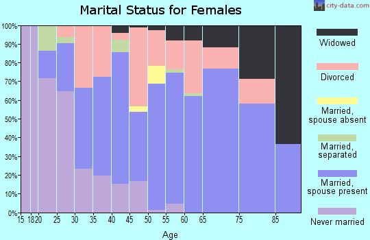 Zip code 48632 marital status for females