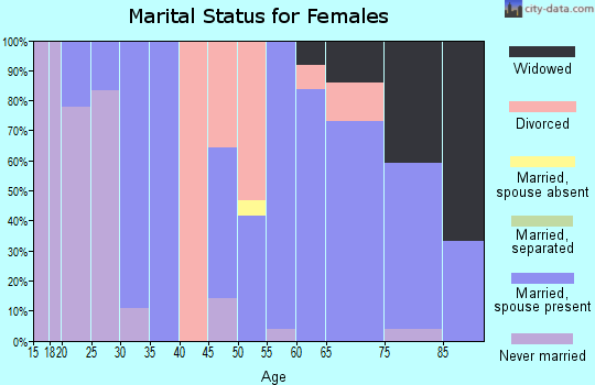 Zip code 48738 marital status for females