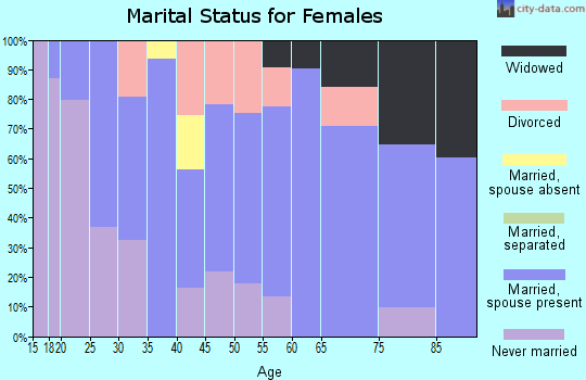 Zip code 48818 marital status for females