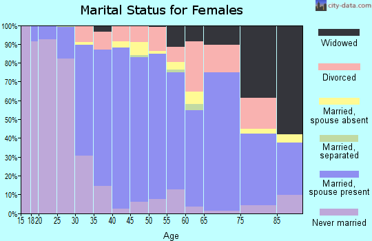Zip code 48864 marital status for females