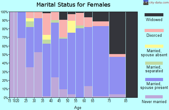 Zip code 48872 marital status for females