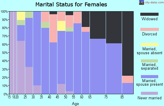 Zip code 48889 marital status for females