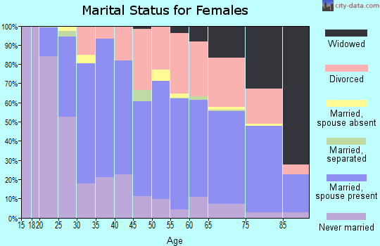 Zip code 49004 marital status for females