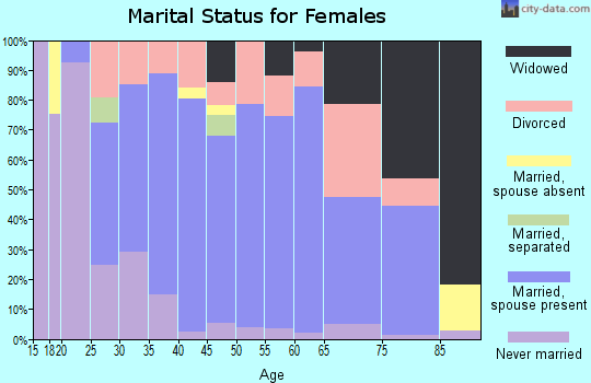 Zip code 49078 marital status for females