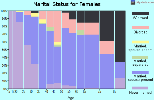 Zip code 49082 marital status for females