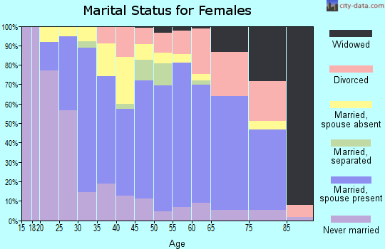 Zip code 49103 marital status for females