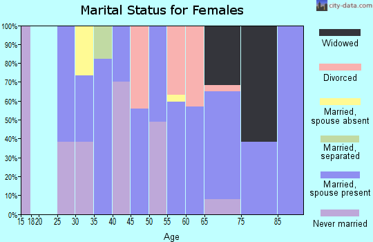 Zip code 49130 marital status for females