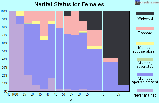 Zip code 49247 marital status for females