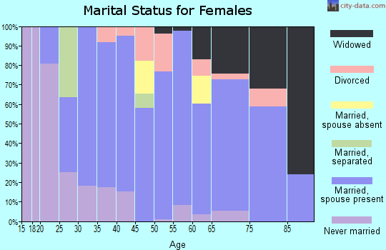 Zip code 49267 marital status for females