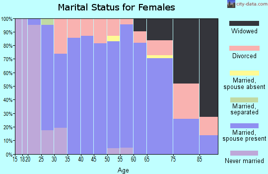 Zip code 49271 marital status for females