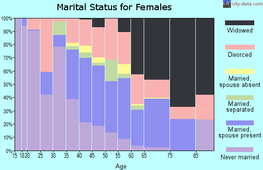 Zip code 49304 marital status for females