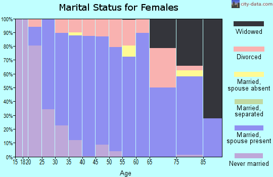 Zip code 49306 marital status for females