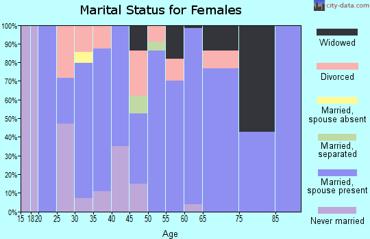 Zip code 49326 marital status for females