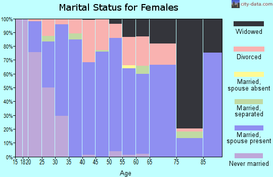 Zip code 49330 marital status for females