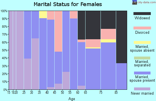 Zip code 49402 marital status for females