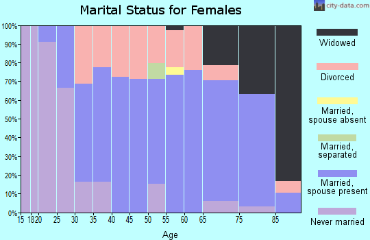 Zip code 49629 marital status for females