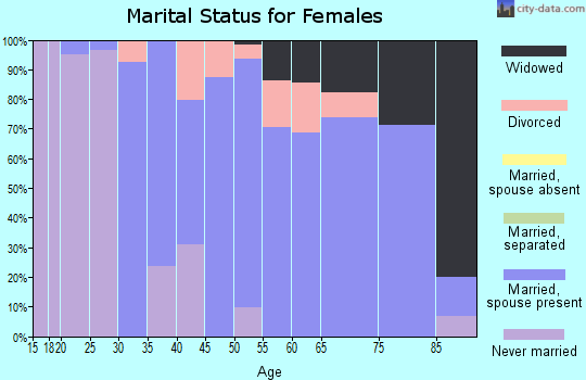 Zip code 49729 marital status for females