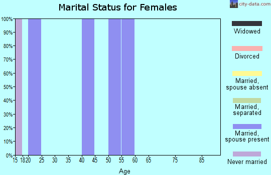 Zip code 49764 marital status for females