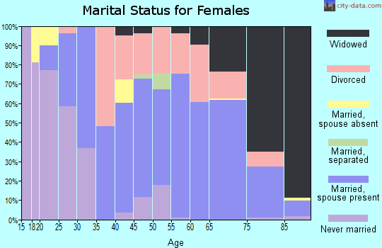 Zip code 49802 marital status for females