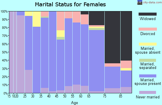 Zip code 49807 marital status for females