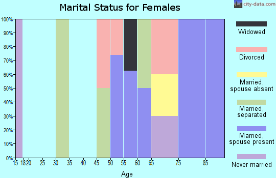 Zip code 49848 marital status for females