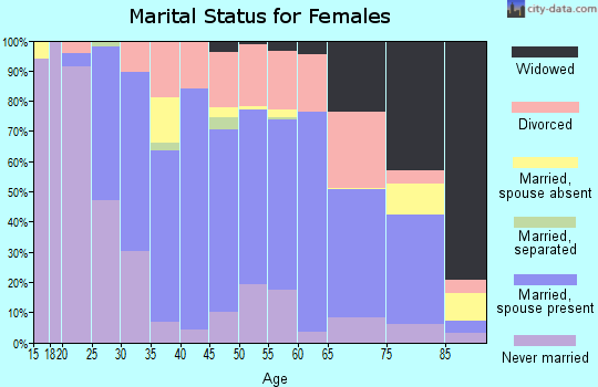 Zip code 49849 marital status for females