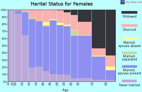 Zip code 49855 marital status for females