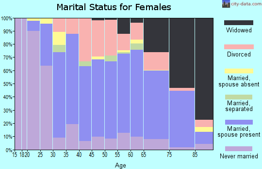 Zip code 49858 marital status for females