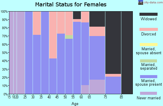 Zip code 49861 marital status for females