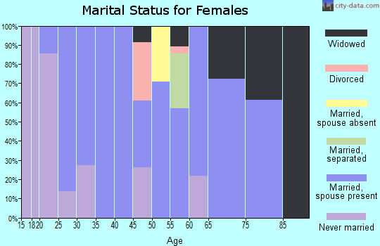 Zip code 49922 marital status for females