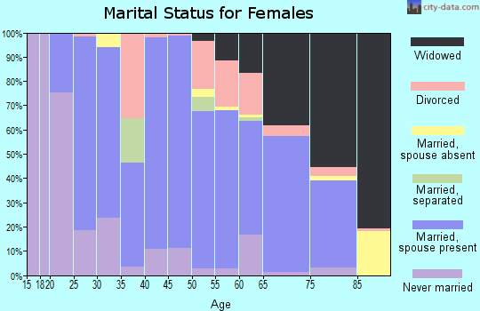 Zip code 49946 marital status for females