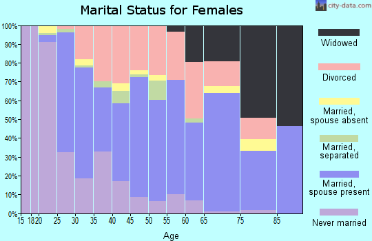 Zip code 50313 marital status for females