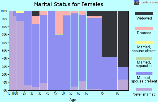 Zip code 51041 marital status for females
