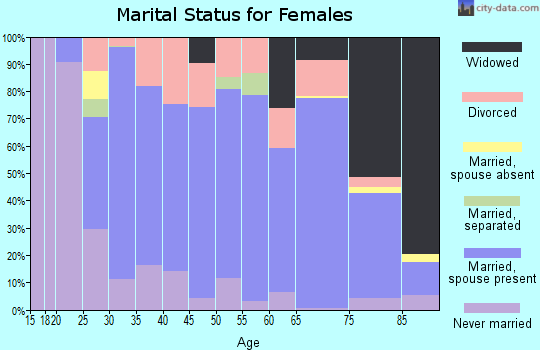 Zip code 51334 marital status for females