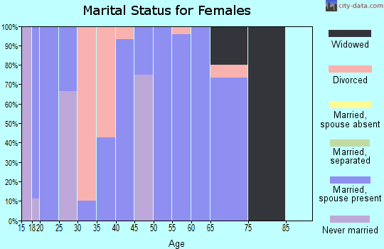Zip code 51345 marital status for females