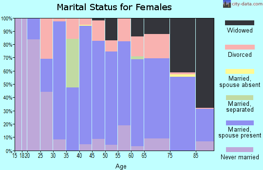 Zip code 51351 marital status for females
