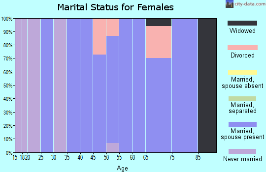 Zip code 52658 marital status for females
