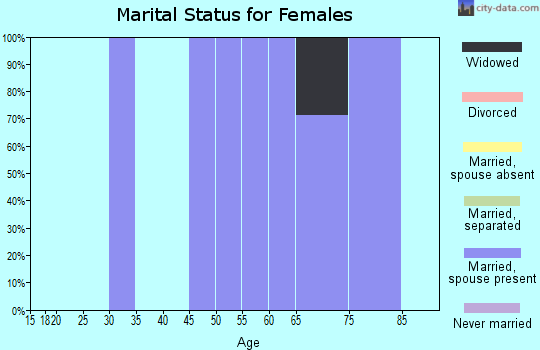 Zip code 52760 marital status for females