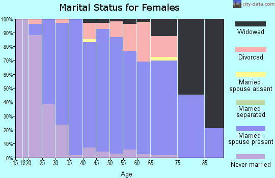 Zip code 53508 marital status for females