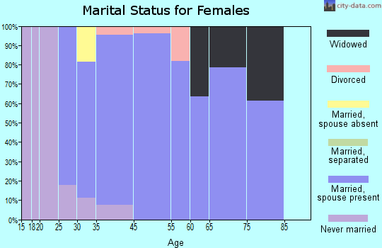 Zip code 54012 marital status for females