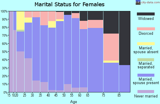 Zip code 54129 marital status for females