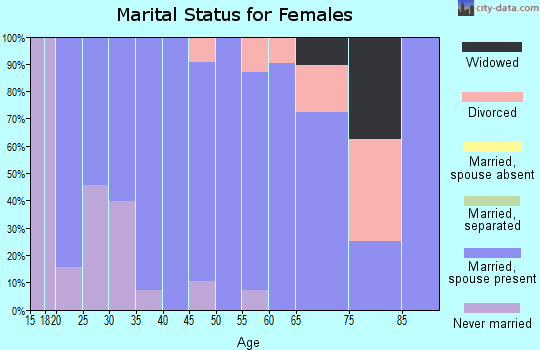 Zip code 54141 marital status for females