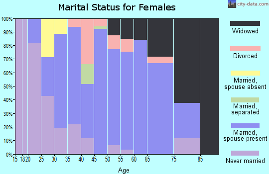 Zip code 54155 marital status for females