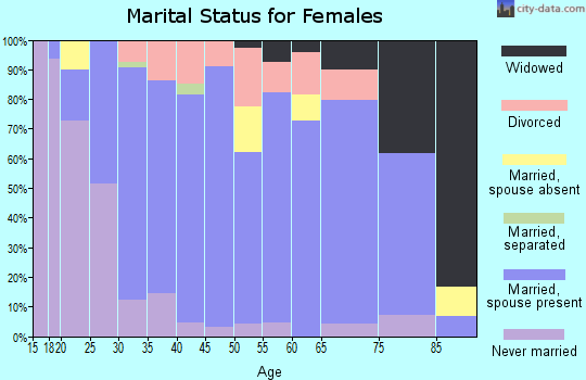 Zip code 54170 marital status for females
