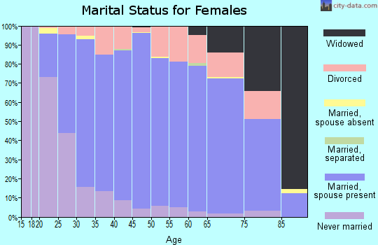 Zip code 54313 marital status for females